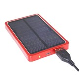 Solar Power Bank - 4000MA Red, Silver, Black