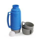 600ml Plastic Thermo Flask - Avail in Blue, Red or Green