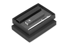 Oakridge Power Bank & Pen Gift Set - Avail in Beige, Black or Br