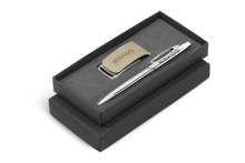 Oakridge USB & Pen Gift Set - Avail in Beige, Brown or Grey
