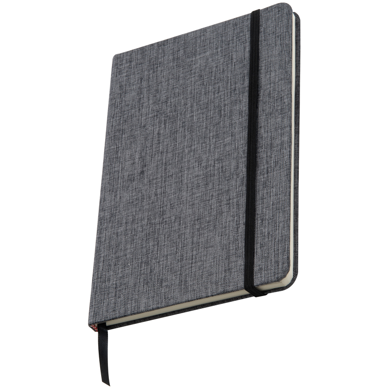 300D canvas A5 journal/notebook, 160 lined pages, bookmark and e