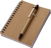 Eco-Friendly A6 notebook with matching pen - 120 lined pages!