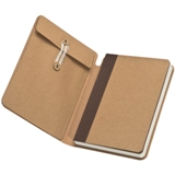 A5 cardboard notebook with a storage compartment and elastic ban
