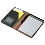A5 Stripe design PU folder with notepad.