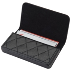 PU business card holder with a modern quilt pattern.