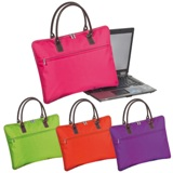 Modern padded laptop bag in trendy colours with 2 PU carry handl