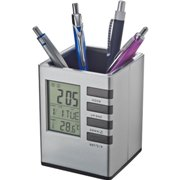 Pen holder with a digital display