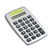 Calculator with a big rubber keypad