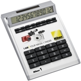 12 Digit dual-power calculator with removable plate - for easy b