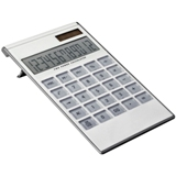 12 Digit dual-power calculator with a transparent plastic keypad
