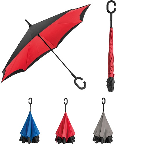 Inside-out reversable umbrella - no more wet spots on floor