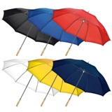 XXL Umbrella with wooden handle. Material: 190T Polyester