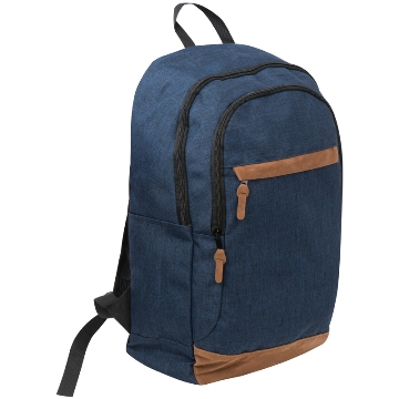 Navy Laptop bag with suede accents
