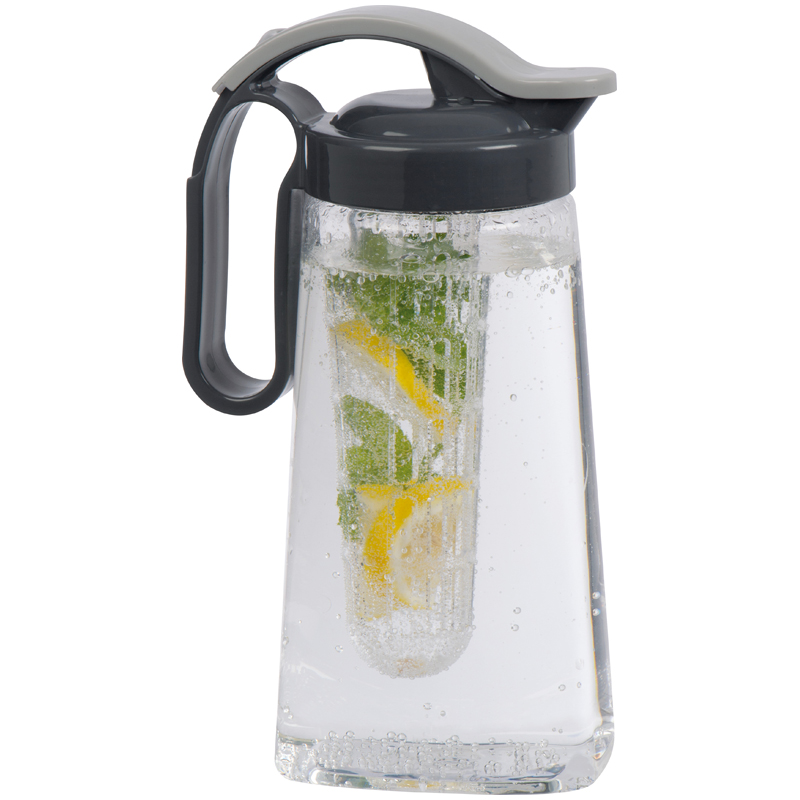 1,800ml plastic water jug with spout and sieve insert for ice/fr