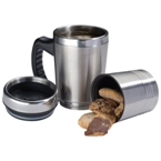 "2-in1 Thermal mug: 400ml mug with screw on ""dry"" compartment (20"