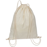 Natural Cotton drawstring bag.