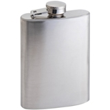 Compact 104ml stainless steel hip-flask with screw cap closure.
