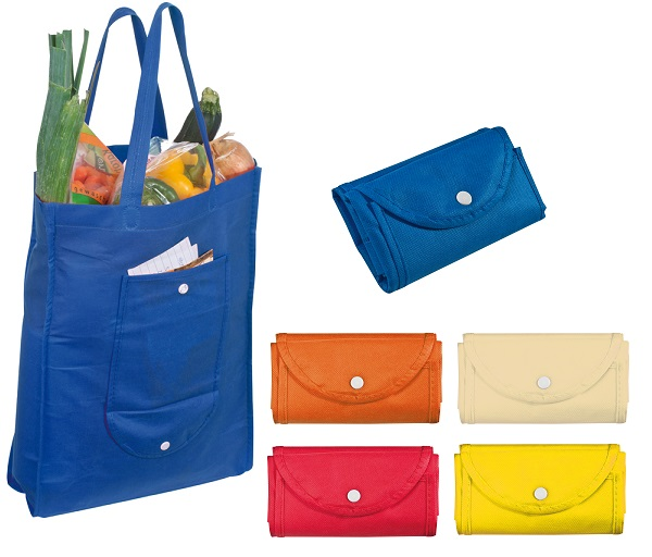 Non-woven fold-up shopper bag