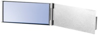 Aluminium vanity mirror - ultra slim design!