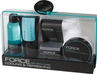 FORCE - cosmetic series for men consists of a shower gel, body l