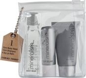 Travel Bath Set with shower gel (30ml), shampoo (15ml) and lip b