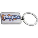 Metal key ring - choose between laser engraving of a full colour