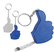 Like key ring with 1m tape measure
