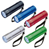 9 LED metal torch with loop