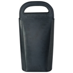 Insulated bonded leather wine cooler bag for 2 bottles of wine.