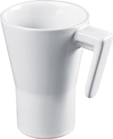 "300ml Glossy ceramic mug in a modern design - ""7"" design handle"