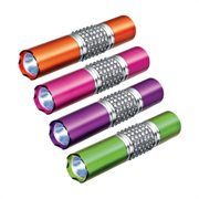 Ladies metal LED torch with gem stones.