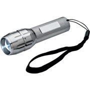 Metal torch with adjustable bright LED technique.