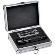 Tool set in an aluminium case with a 14 LED torch and a multitoo