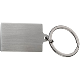Rectangular metal key ring.