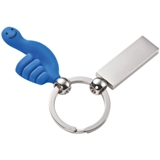 TPE rubber material key ring with a smiley hand design.