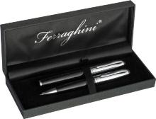 Ferraghini writing set with a ballpen and a rollerball pen
