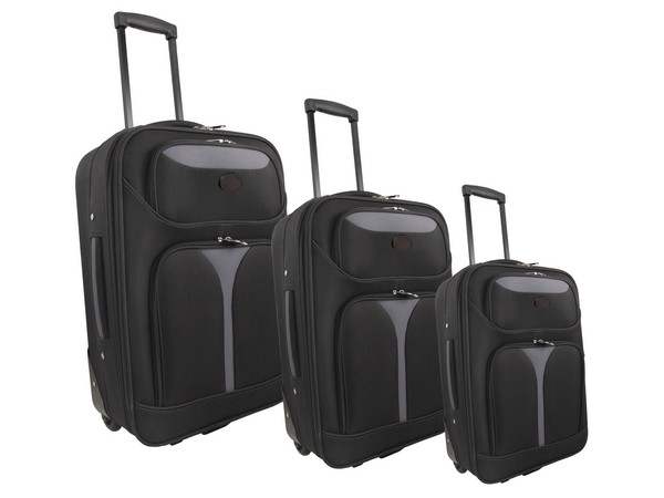Soft Case Luggage Bag Set [of 3] - Avail in Black or Blue