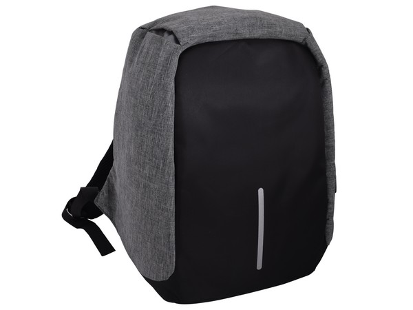 Flash Anti-Theft Laptop Backpack - Grey/Black