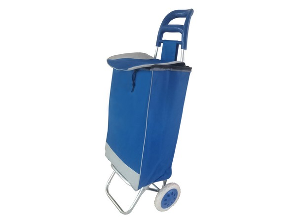 Blue Shopping Trolley Bag