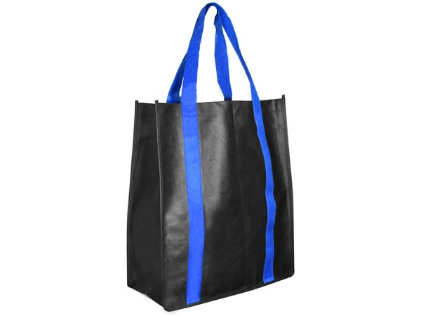 Boeing Gusset Shopper Bag - Black/Blue