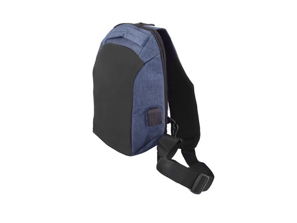 Blue Anti-Theft Tablet Shoulder Bag