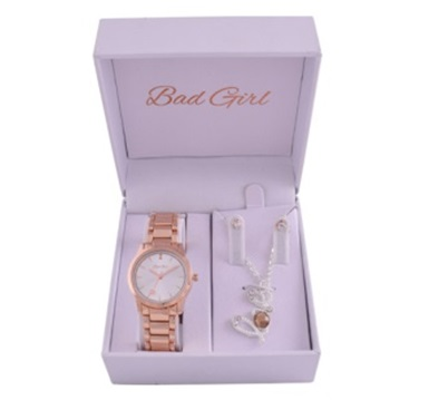 Ladies Gift Set. Watch & Necklace Set in Gift Box