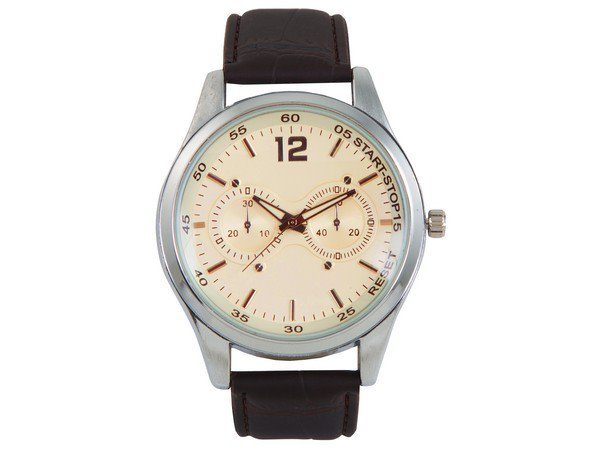 Oxford Analogue Wrist Watch - Black Strap, Silver Face