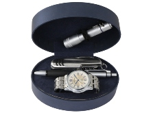 Gents Watch Gift Set (    Includes: Watch, Pen, Knife and Torch)
