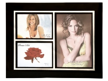 Black  3-in-1 Glass Photo Frame