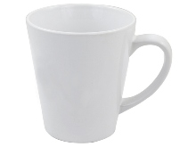Sublimation Cone Mug - white
