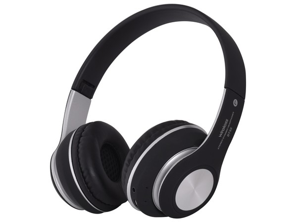 Black-Silver Wireless Headphones