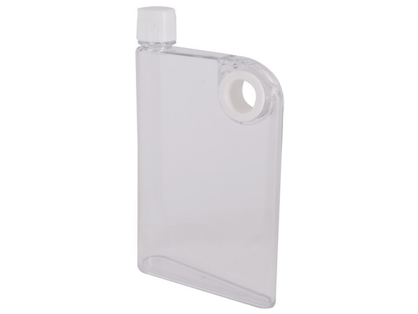 Flat Waterbottle 380ml - Avail in Clear or Charcoal