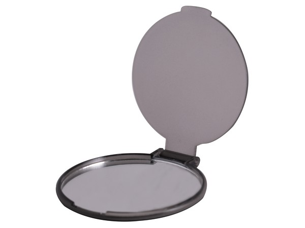 Budget Compact Mirror. Avail in Blue, Grey, Red or Purple