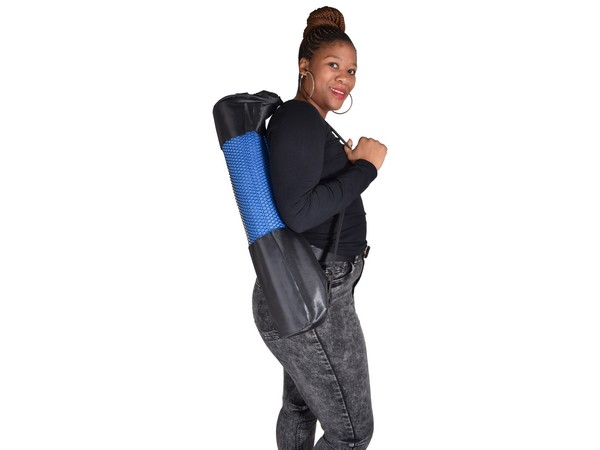 Blue Yoga Mat & Carry Bag